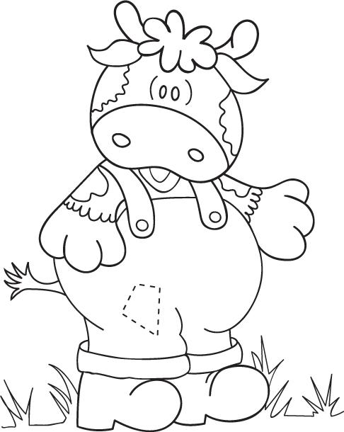 Dibujos y plantillas para imprimir dibujos de vaquitas - Dibujos infantiles para pintar en tela ...