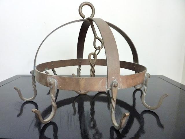 Walrus: Antique Copper Domed Pot Rack -- SOLD on etsy