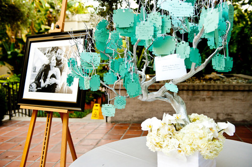 Wishing Tree For Guests To Write Wishes Advice On Another Guest Book Alternative Paired With