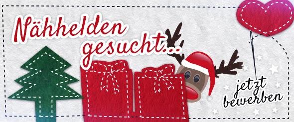 …lautet daher unser Motto, bei dem wir 24 Nähhelden suchen, die im Auftrag des Weihnachtsmanns lieben Menschen eine Freude bereiten möchten.