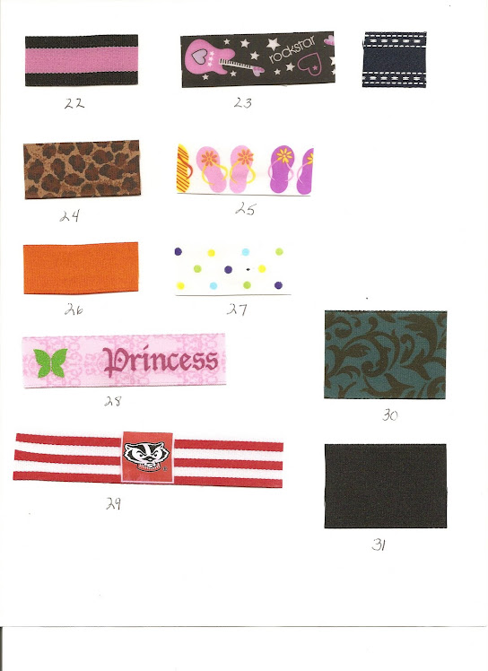 Ribbon choices page 3