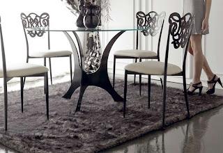 mesa de forja redonda, mesa forja con cristal, mesa forja para salon, mesa de comedor forja, muebles de forja, forja