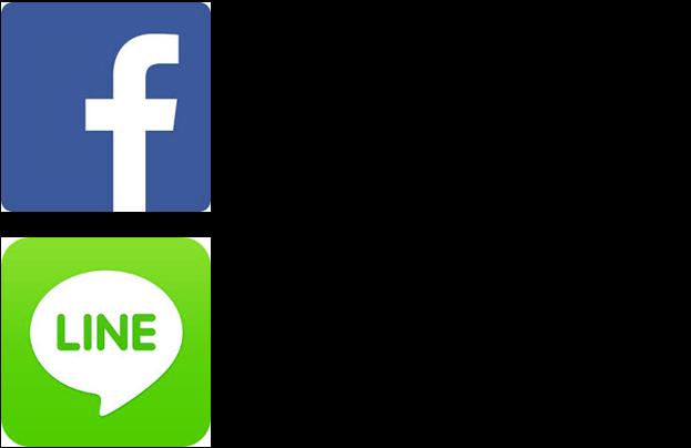 Line & Facebook