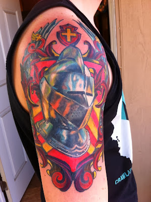 Helmet Coat of Arms Tattoo