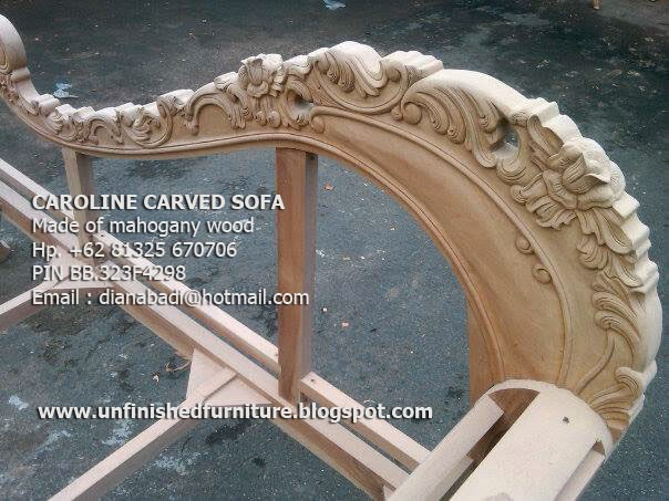 Unfinished Mahogany Furniture Unfinished Classic wooden Frame