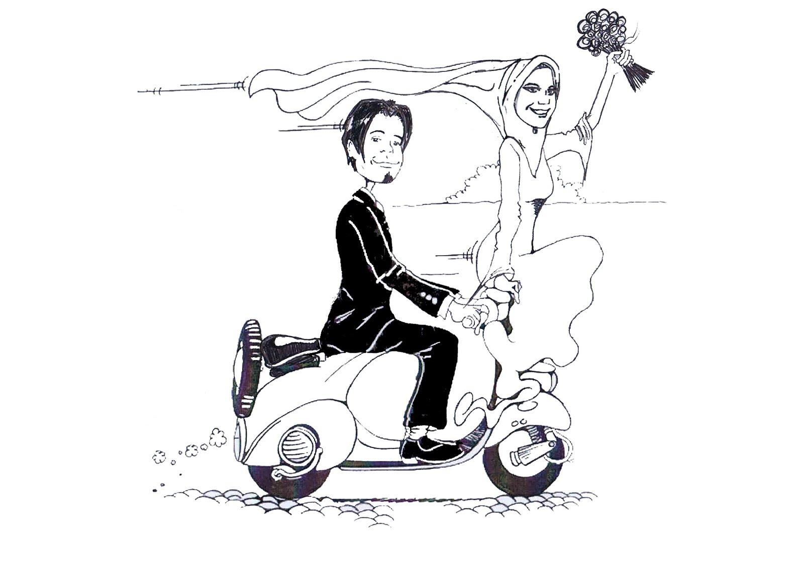 Gambar Kartun Sweet Couple Wedding
