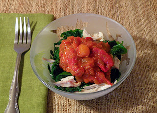 Slow Cooker Pasta Sauce over Chicken and Kale