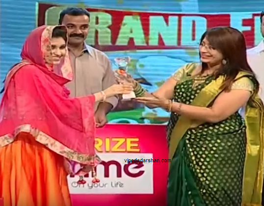 Sajna - the title winner of  Kitchen Magic Season 4  on Kairali TV