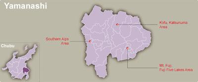 Yamanashi Map Regional City