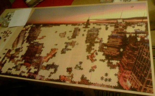 manhattan_sunset_3000_parça_educa_hdr_puzzle_yapım_aşaması