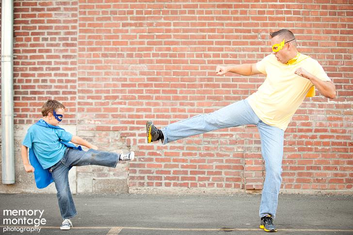 superhero photo shoot yakima family photographer
