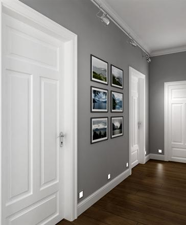Perfect colour combination floor parquet wall and doors - Suelo oscuro puertas blancas ...