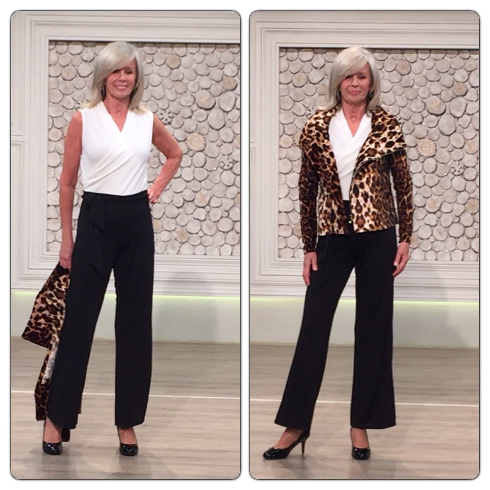 Nv nick verreosemiere on qvc uk lots of photos nick verreos model in nv nick verreos faux leather and jersey knit top and tribal print knit jersey pants nv nick verreos premiere day on qvc uk ccuart Gallery