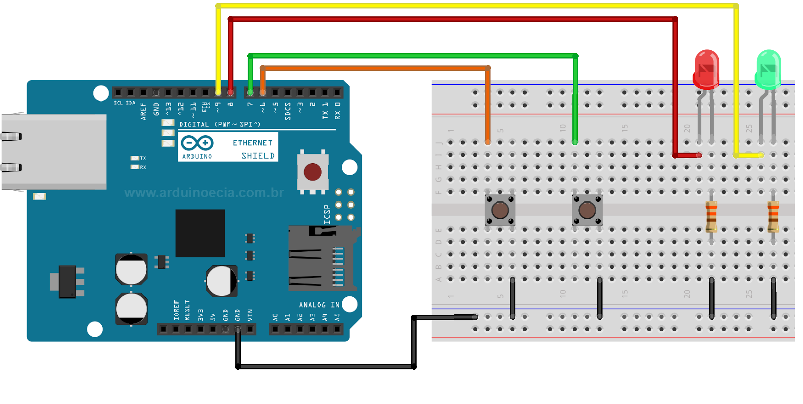 Ethernet Shield Arduino W5100