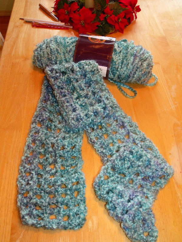 Clever Crafty Cookin Mama Quick 2 Hour Fluffy Scarf