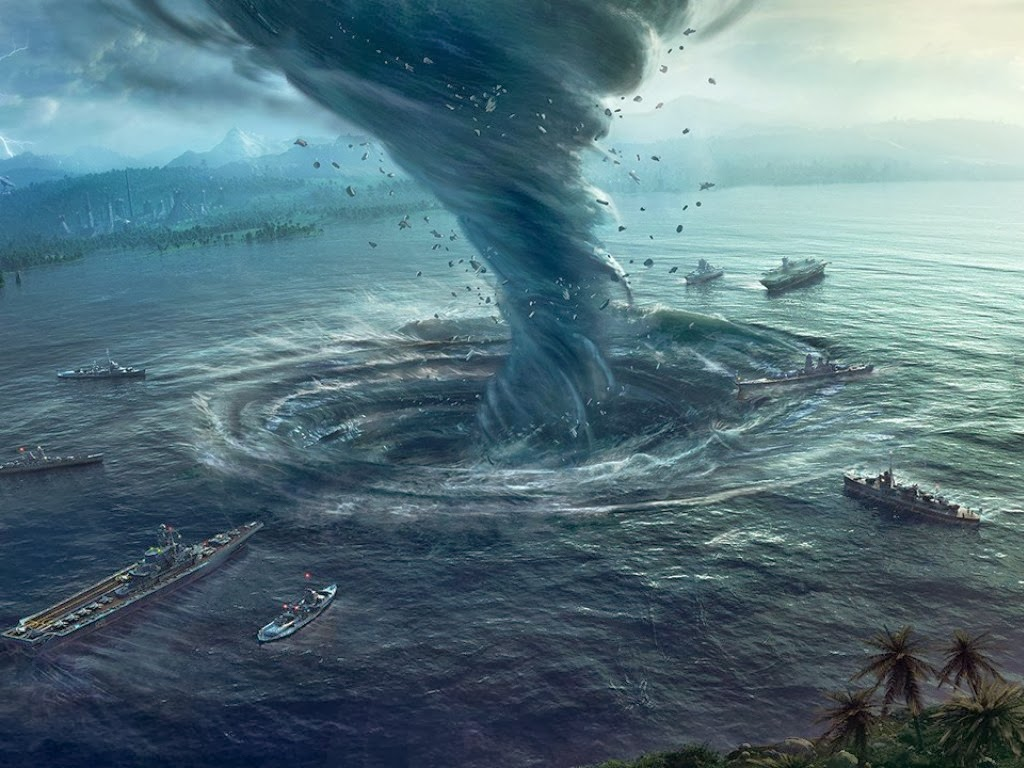 Cataclysm 3d tornado wasteland waterspout wallpaper