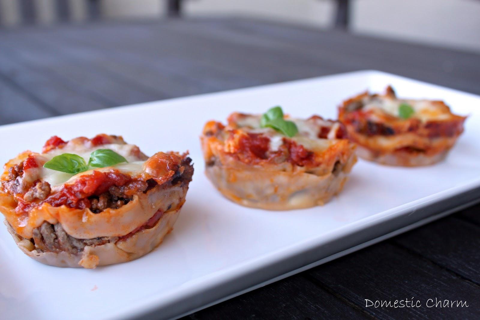 Domestic Charm: Lasagna Cupcakes