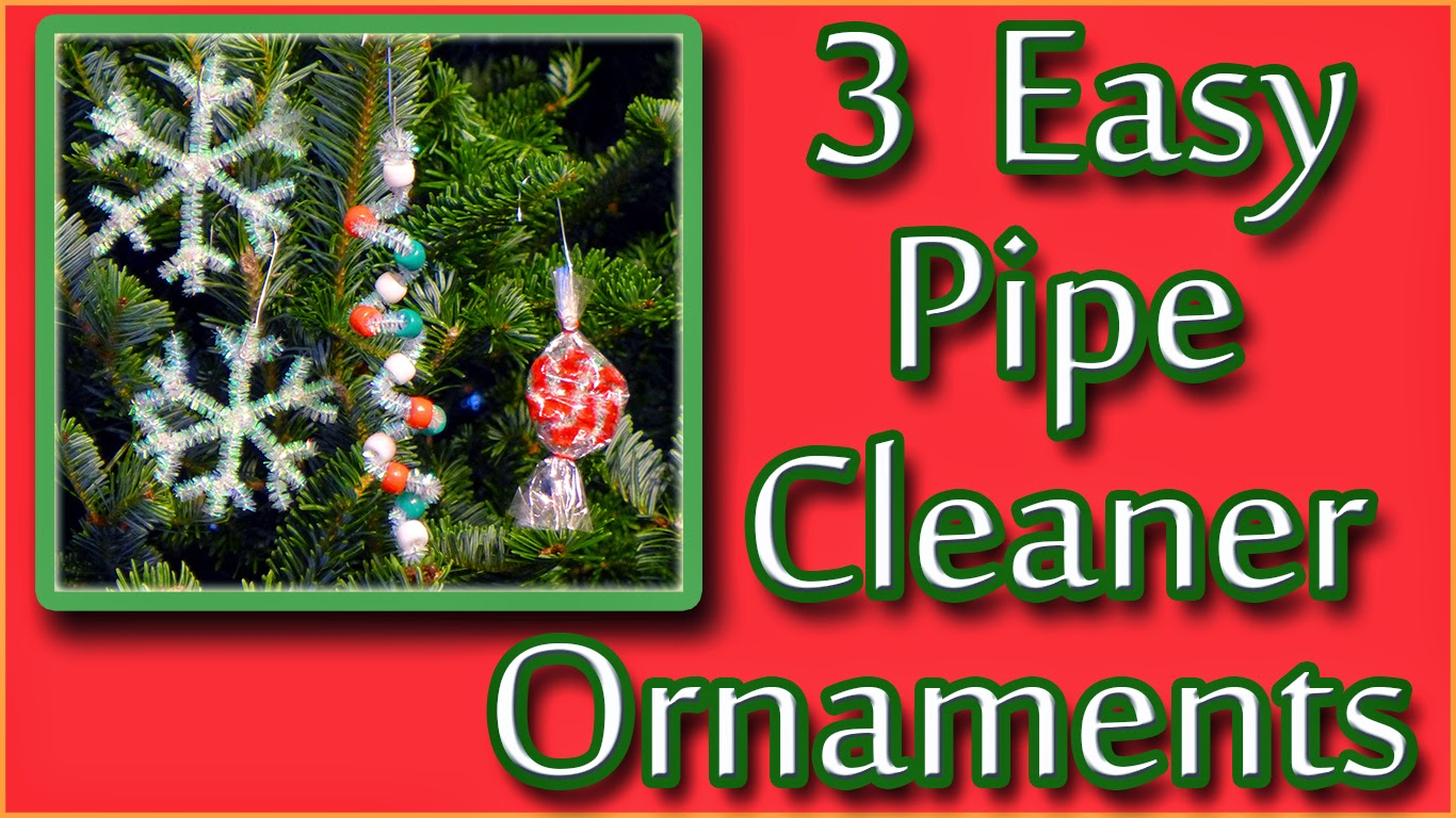 Easy christmas ornaments for kids to make - 3 Easy Pipe Cleaner Christmas Ornaments