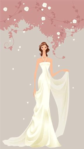 Novia con vestido de raso drapeado