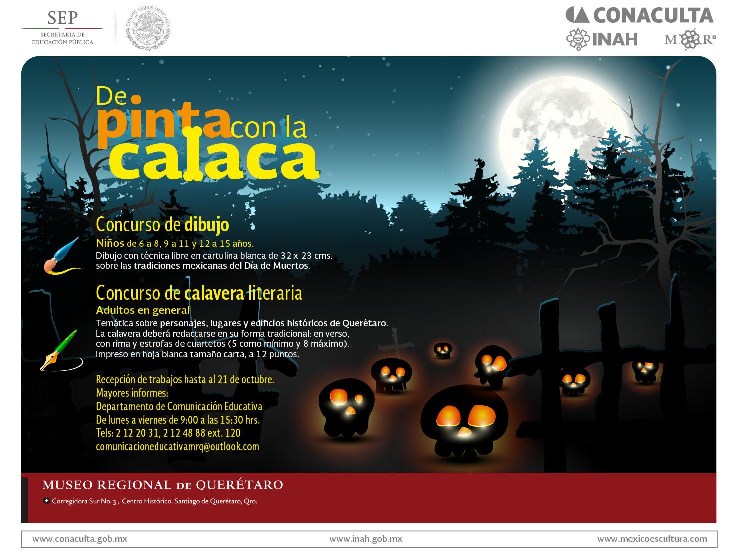 DE PINTA CON LA CALACA Concurso de dibujo y calavera literaria