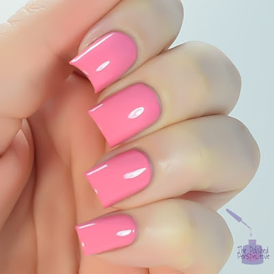 China Glaze pink or swim swatch