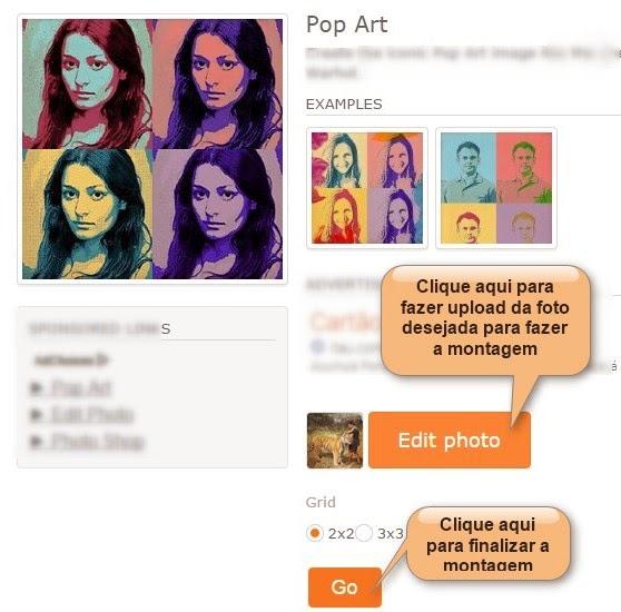 exemplo montagem pop art