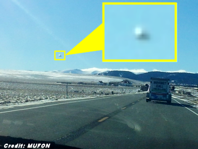 Mysterious UFO Photographed By Colorado Motorist 12-14-14