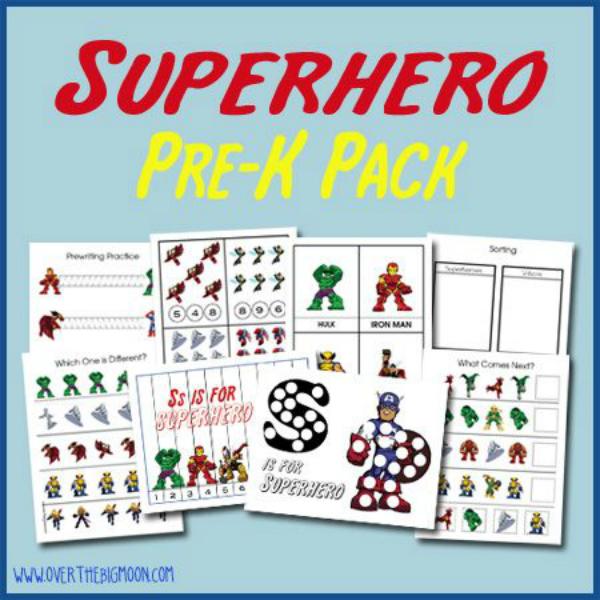 Clothed With Grace Kindergarten Ready Superhero Activities