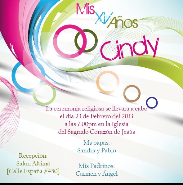 Invitaciónes de XV años 2013 para imprimir - Imagui