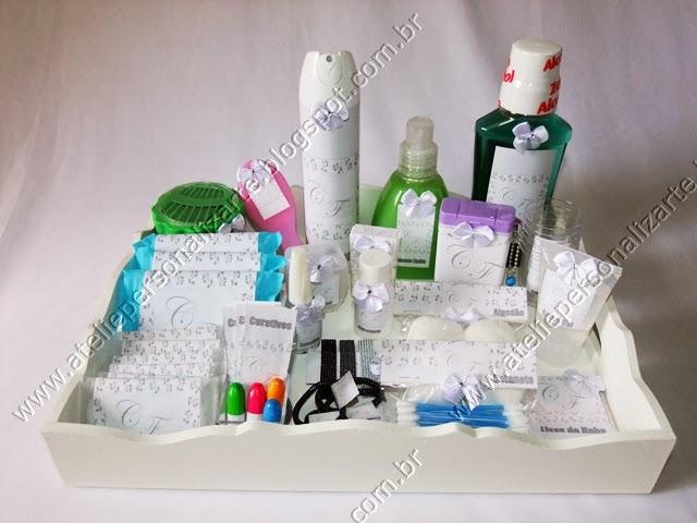 kit toalete para casamento -> Kit Banheiro Simples