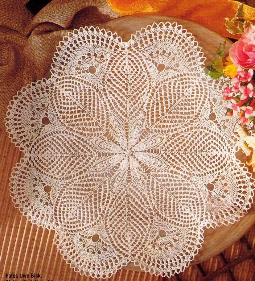 Схемы для вязания салфеток спицами на русском языке 433