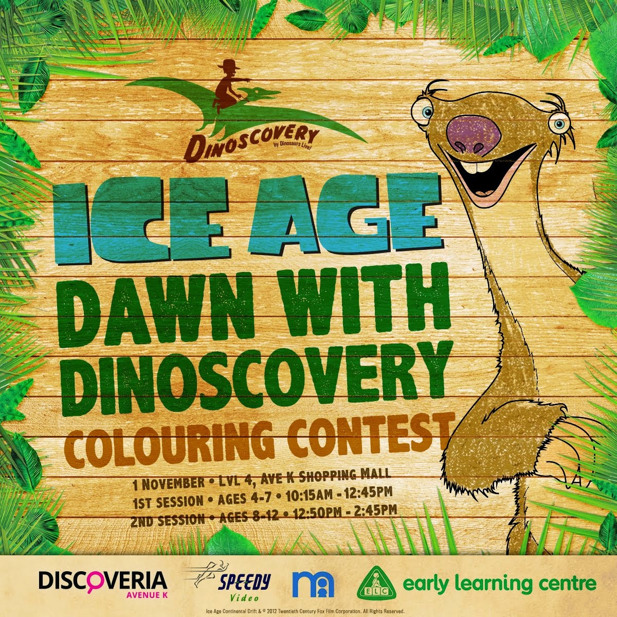 ICE AGE coloring contest