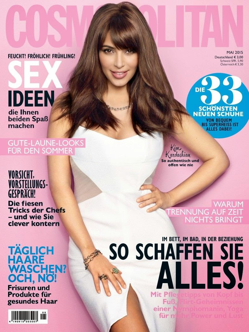 Singer, Television Personality, Socialite, Model @ Kim Kardashian - Cosmopolitan Germany, May 2015