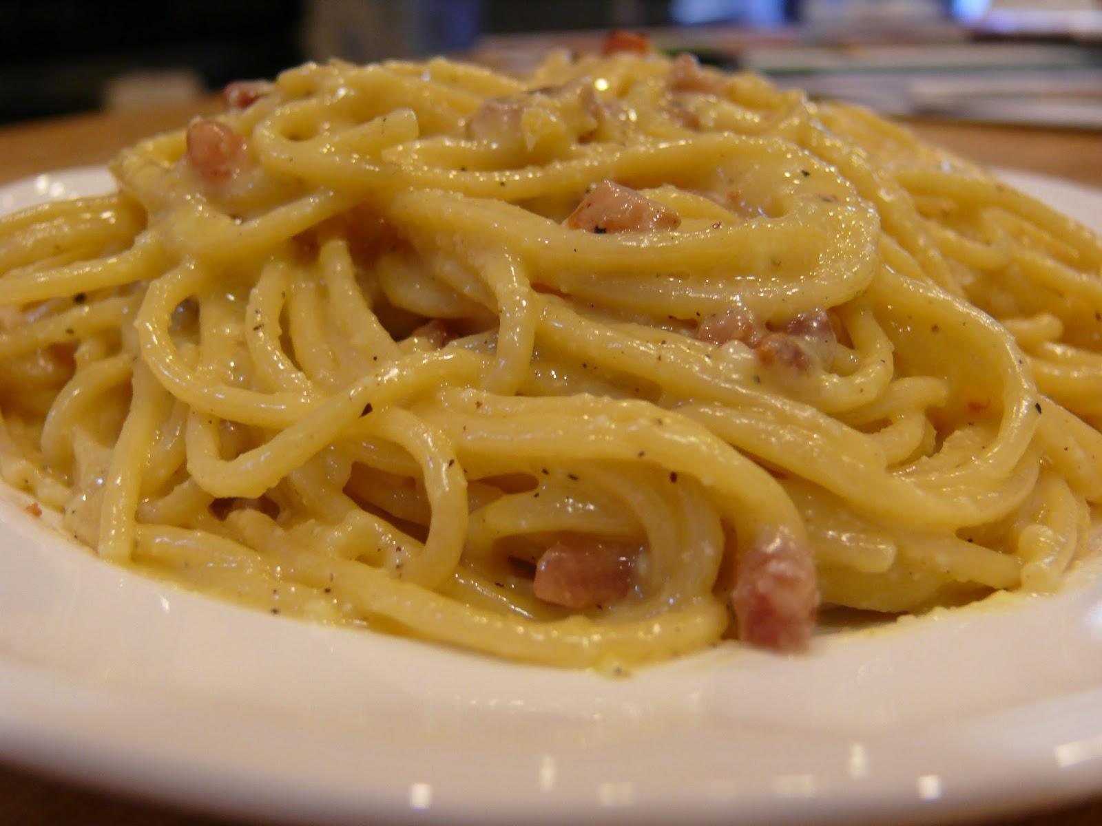 Roman-Style Spaghetti Alla Carbonara Recipe — Dishmaps