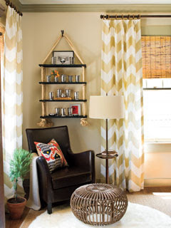 Stuck On Hue Crushing On Chevron Prints Part 2 Inspirational Rooms Without Long Term Commitment