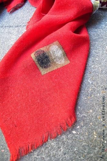 Foulard en laine rouge Mii accessoirse