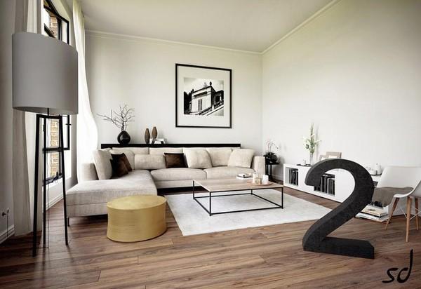 Mẫu phòng khách đẹp của căn hộ 219 Trung Kính 2