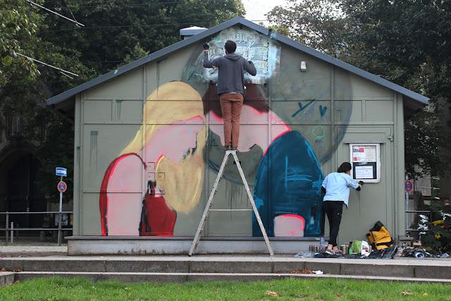 Street Art By Jana & Js In Dusseldorf, Germany For 40° Urban Art festival. 4
