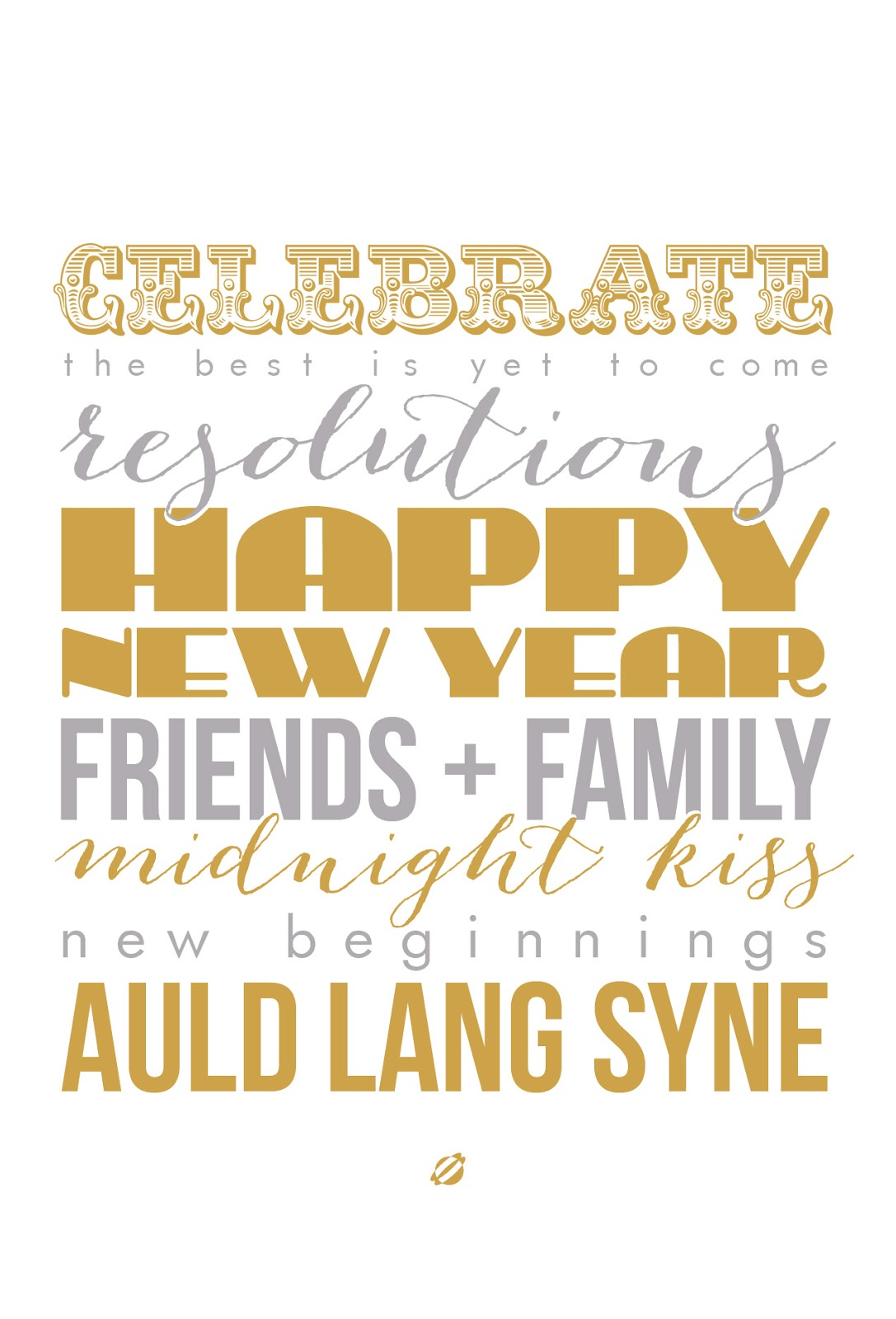 LostBumblebee 2013- HAPPY NEW YEAR - FREE PRINTABLE