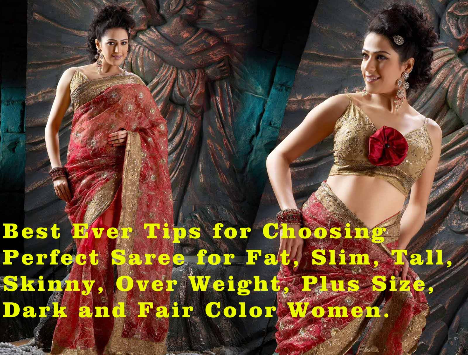 How to choose perfect saree for your body shape