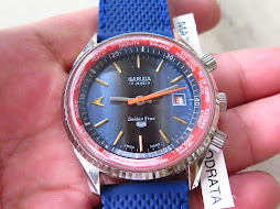 GARUDA GOLDEN STAR BLUE SUNBURST DIAL - RED INNER RING - AUTOMATIC - NEW OLD STOCK(NOS)