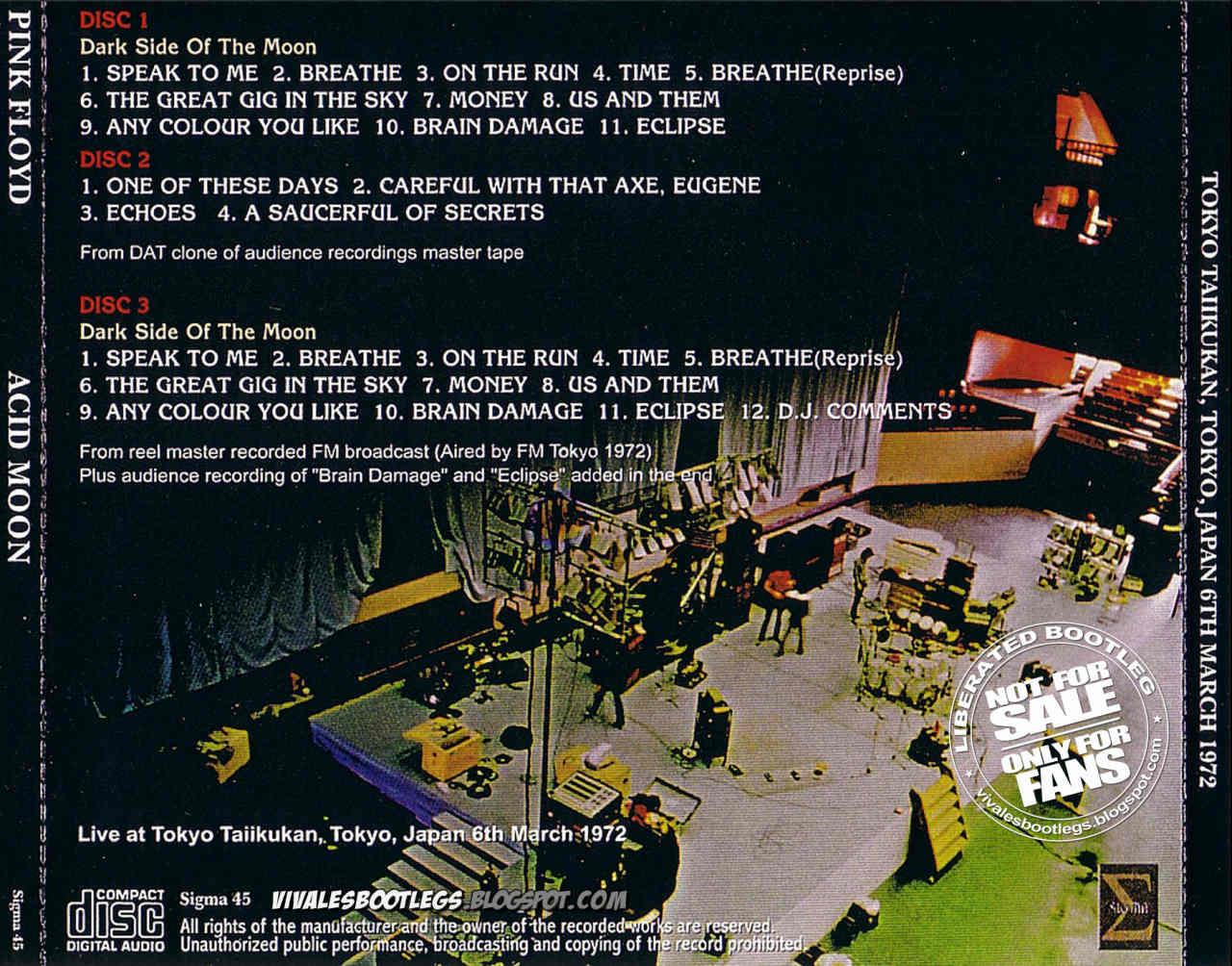 Pink Floyd Acid Moon Taiikukan Tokyo Japan