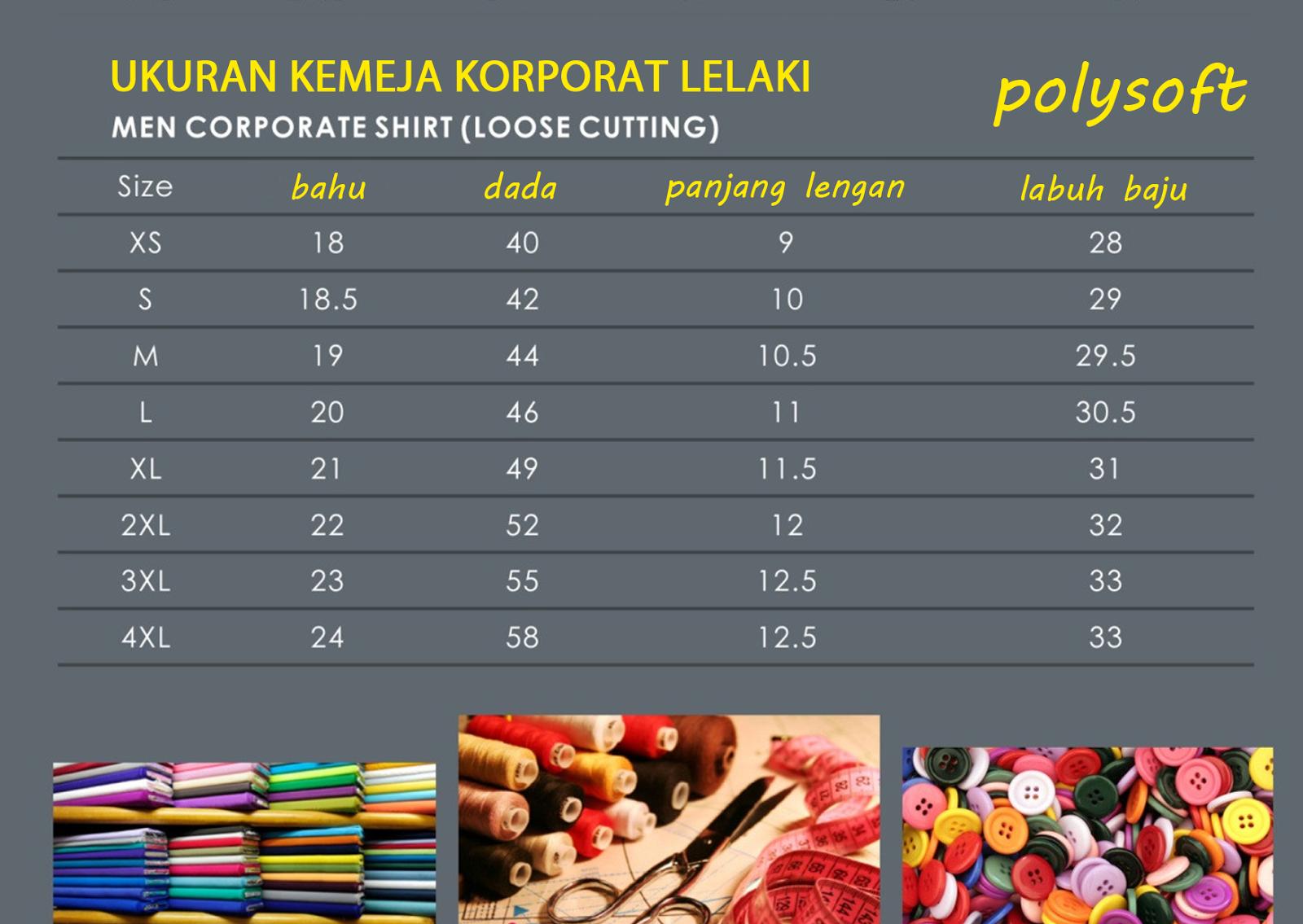 Rz Print Kemeja F1 Katalig Kaos Lelaki Katalog Polysoft Cotton Soft