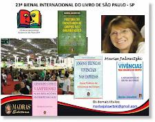 Meus Livros na 23ª Bienal Internacional do Livro em São Paulo - ED. Madras - Estande 600 - Rua B