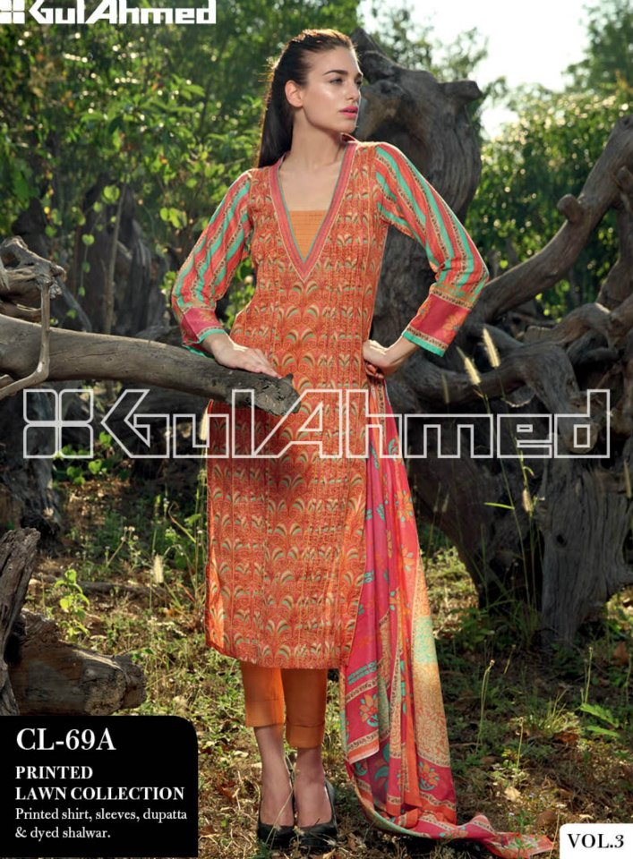 Gul Ahmed Summer Lawn magazine volume 3 2013