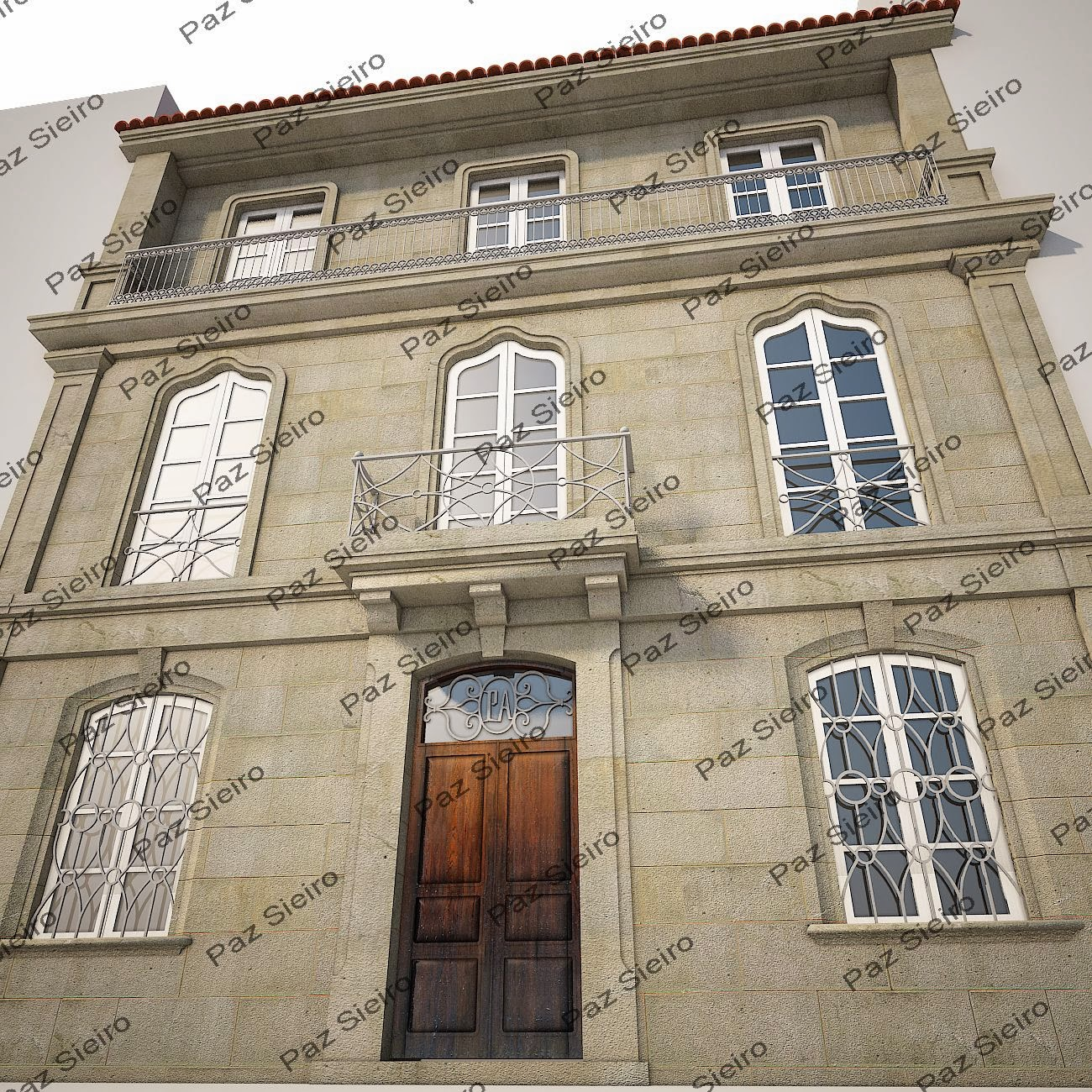 Casa dos paules 1880 r a alva actual cardenal quiroga mestre de obra emilio meru ndano - Idea casa biancheria mestre ...