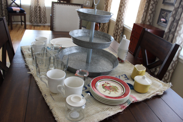 Farm Breakfast Table Vignette