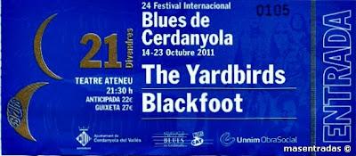 entrada festival blues de cerdanyola