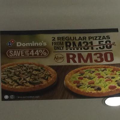 Makan-makan kat Domino's, domino's pizza, cuti sekolah