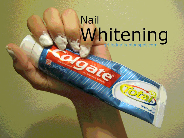 whitening nails yellowing nails grillednails grilled nails treatment yellow